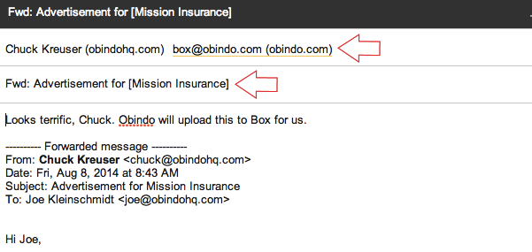 forward your email to obindo