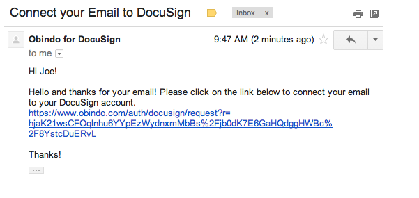 connect to docusign